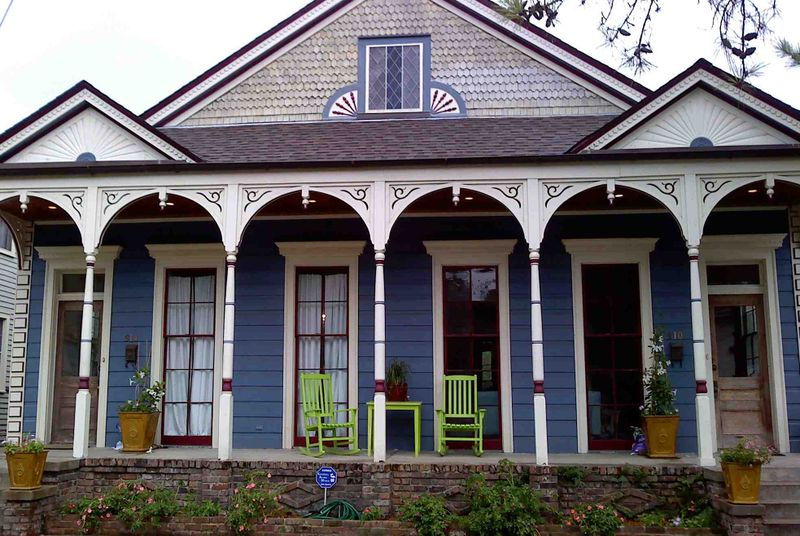New Orleans House Colors Mid City Bluehouse Bluehousegreenchairs