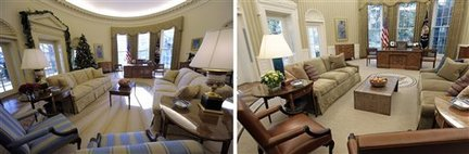 Oval Office Before and After