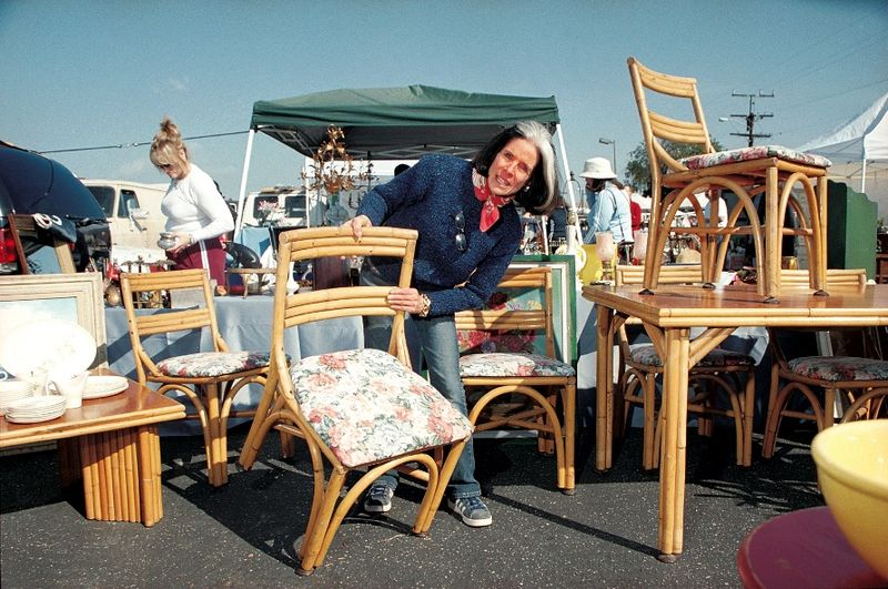Kitty Bartholomew of HGTV fame at a flea market