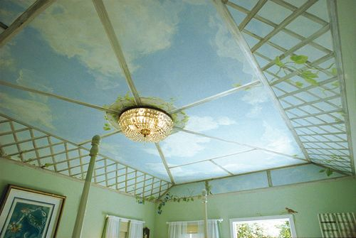 Bedroom Ceiling Mural