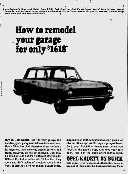 Garage Remodel 1965