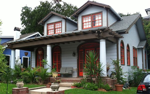 Dispatch From New Orleans New Orleans House Paint Colors Pale Blue Orange Brown And White